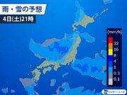 正月休み終盤に寒気が南下 Uターンに影響も