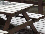 関東でも温暖な南房総などで雪 風がぶつかり雪雲が発生