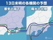 週末 関東で雪の可能性 世界の機関による予想シナリオは