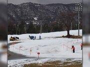 暖冬による雪不足 スキー場の稼働率は昨年より大幅減