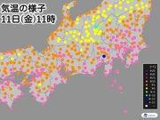 11日(金)は寒さ解消 東京や大阪は午前中に10℃超える