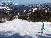 新潟や長野はスキー日和 貴重な雪で滑りを楽しむ