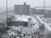 北陸に活発な雪雲 金沢は今冬一番の積雪に