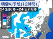 都心周辺は雨寄りで経過 今後雪が混じるが大雪の可能性低い