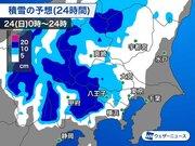 東京23区では朝に雪 都心は大雪の可能性低い