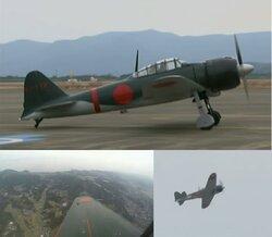 画像:里帰りした零戦、73年ぶりに日本の空でフライト実現 鹿屋基地でテスト飛行に成功/画像はニコニコ生放送