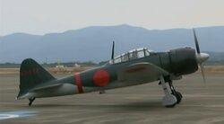 画像:エンジンを始動した機体/画像はニコニコ生放送