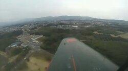 画像:パイロットカメラでの飛行の様子/画像はニコニコ生放送