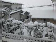 東北中心に積雪増加、会津若松など今冬一番の積雪に