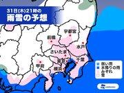 東京 久々の雨は冷たい雨 夜は都心でも今冬2回目の雪に