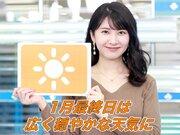 1月31日(日)朝のウェザーニュース・お天気キャスター解説