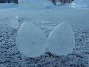 シャボン玉も凍る 北海道は極寒のバレンタインデー