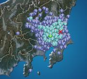 千葉県で震度3の地震発生