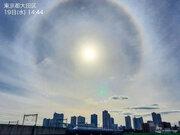 東京や大阪など広範囲で虹色の環「ハロ」が出現