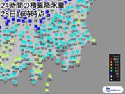 東京など関東各地で今年一番の雨 ピークは夕方まで