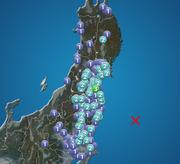 宮城県で震度3の地震発生