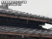 東京都心でみぞれ観測 1か月半ぶりの「降雪」