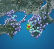 地震速報 和歌山県北部で震度5弱 津波の心配なし