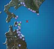 青森県東方沖で地震 下北で震度3 津波の心配なし