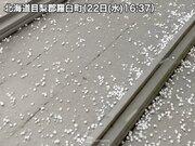 北海道で大粒のあられ 明日23日(木)も荒天注意