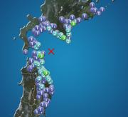 青森県東方沖で地震 青森と北海道で震度3