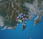 静岡県で震度3 震源は山梨県中・西部 津波の心配なし