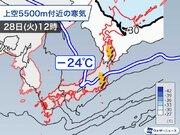 東京は今日も急な雨に注意 強い寒気が上空を通過