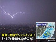 活発な積乱雲 東京都心を通過中
