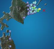 北海道 根室で震度4 津波の心配なし