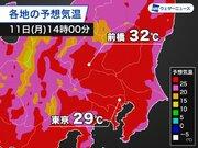 関東で30℃予想 季節外れの暑さ 熱中症に注意