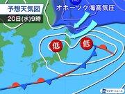来週はオホーツク海高気圧出現 北日本太平洋側は昼間も10℃届かず