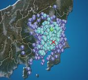 茨城県南部で震度3の地震発生 東京は震度2