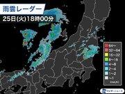 北関東や北陸で雷を伴った強い雨 今夜にかけて雷雨や雹などに注意
