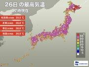 東京など全国288地点で5月の最高気温を観測 27日(月)も暑さに注意を