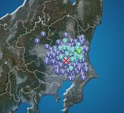 茨城県で震度3の地震発生