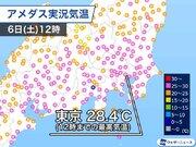 午前中から東京は28℃ 関東、東海は特に蒸し暑い