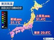 今日も午前中から真夏日に 東京もすでに30目前