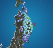 岩手県沖で地震 岩手県・青森県で震度3