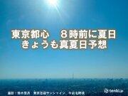 東京都心 早くも夏日 連続真夏日予想 暑さ対策を