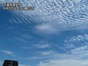 青空に広がるうろこ雲や波状雲 関東は日差し戻り気温も上昇