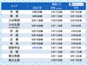 関東甲信地方が梅雨入り 今年の他エリアと違い、平年より遅く