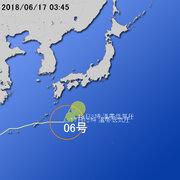 【台風第6号に関する情報】平成30年6月17日05時00分 気象庁予報部発表