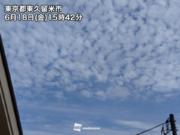 東京など関東でうろこ雲やひつじ雲が出現 明日の雨の予兆