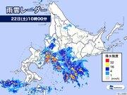 北海道で激しい雨 総雨量かさむ可能性も