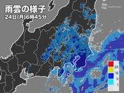 関東 東京都心など通勤通学時間帯は一時的な強雨に注意