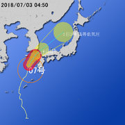 【台風第7号に関する情報】平成30年7月3日04時43分 気象庁予報部発表