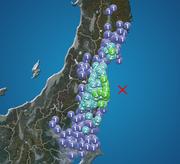 福島県・宮城県で震度3の地震発生