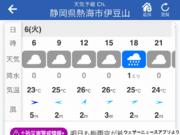 静岡県熱海市の天気 あす6日(火)はにわか雨に注意