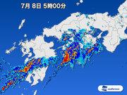 愛媛県愛南町付近で1時間に約100mmの猛烈な雨 記録的短時間大雨情報を発表
