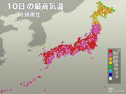広島などではすでに30℃超え 復旧作業や避難は暑さに警戒